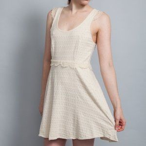 FREE PEOPLE Scallop Lace Fit&Flare Skater Dress M